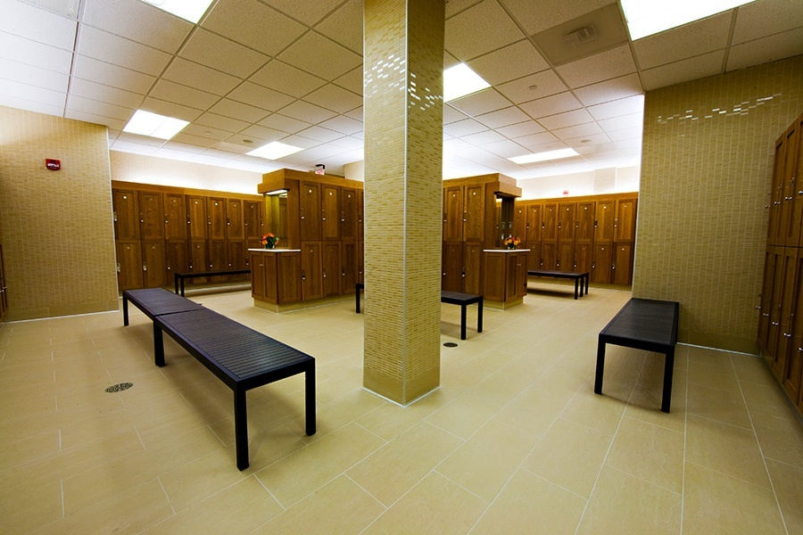 Clean, Spacious Locker Rooms